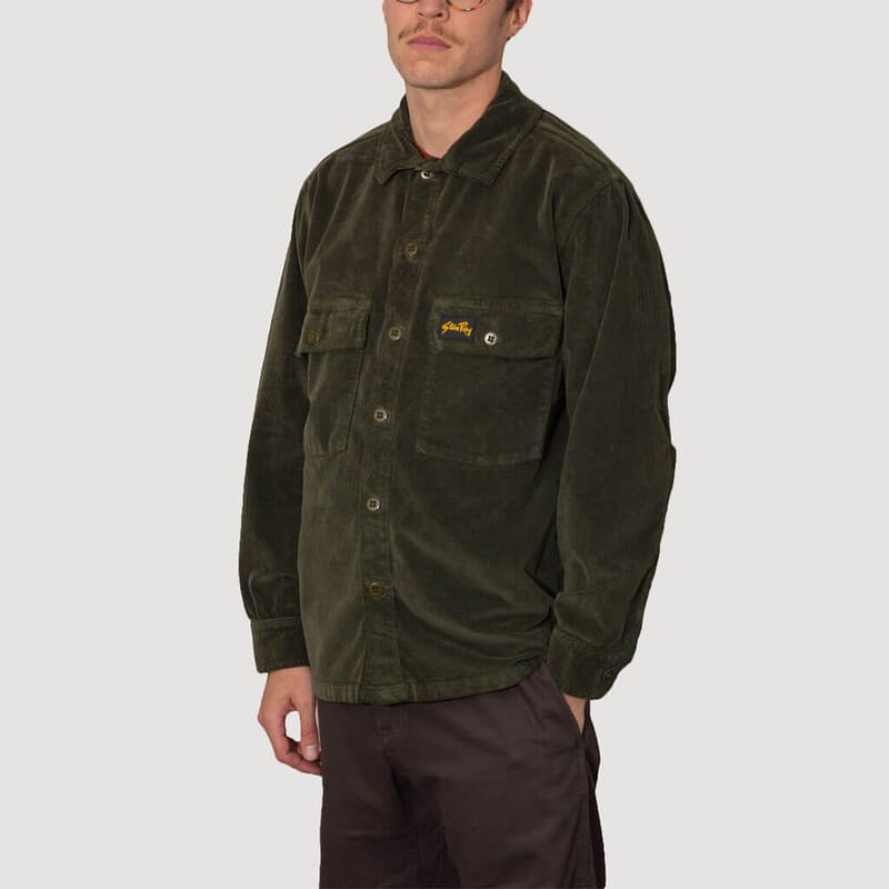 <Cord CPO Shirt - Olive
