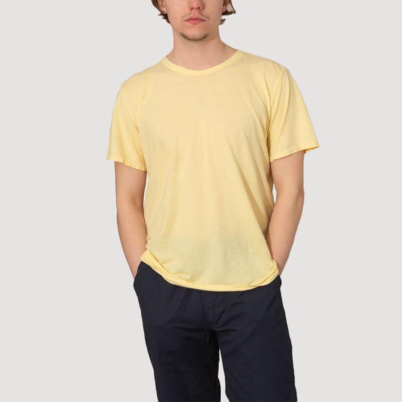 <Basic 30/70 Tee - Pale Yellow