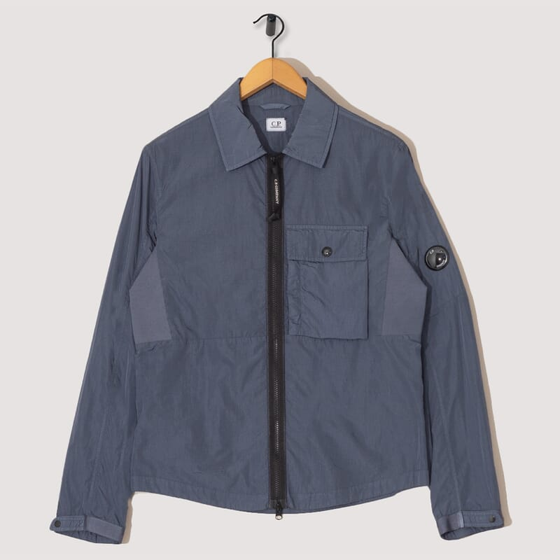 Chrome Overshirt - Ombre Blue