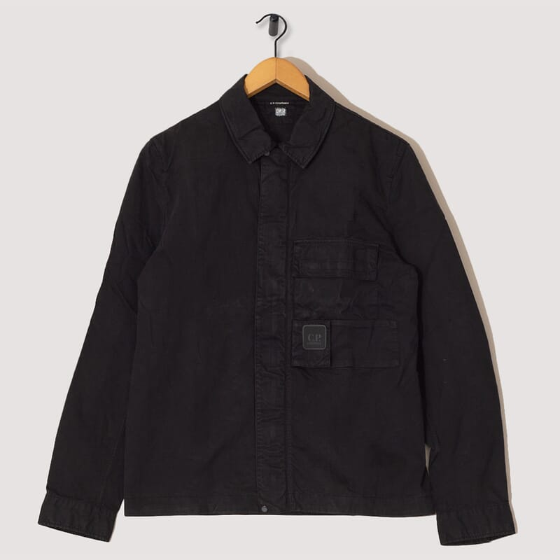 Long Sleeve Zip Shirt - Black