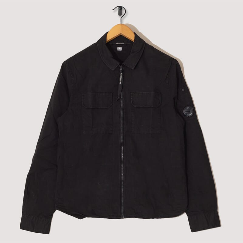 Gabardine Overshirt - Black