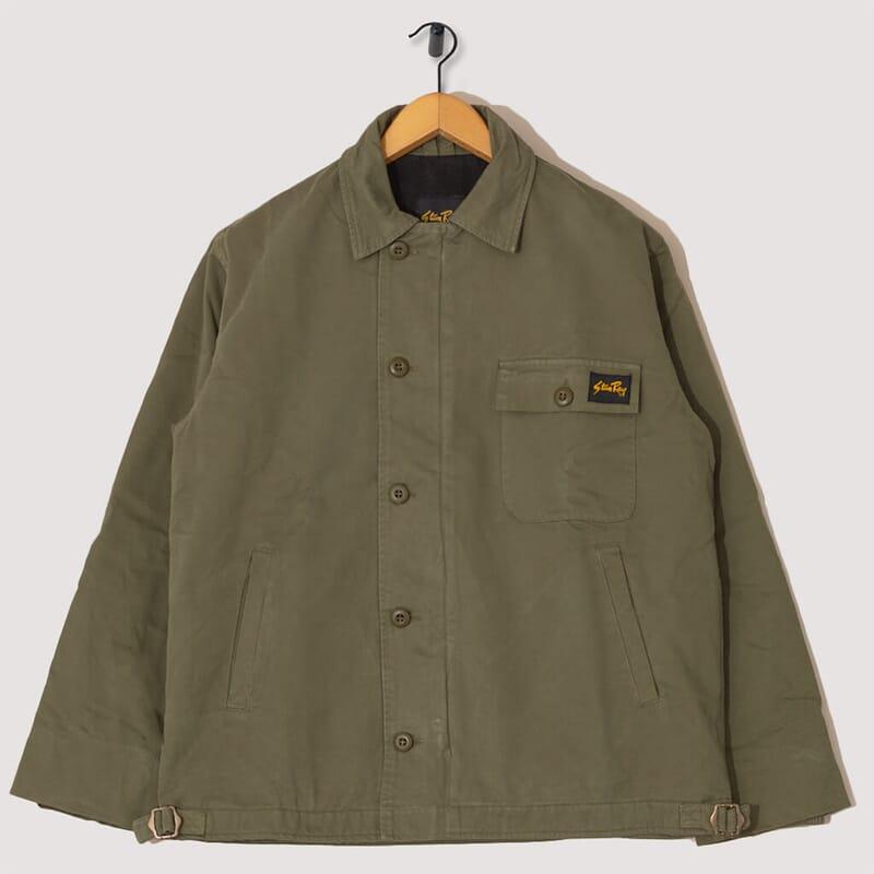 A2 Deck Jacket - Olive Twill