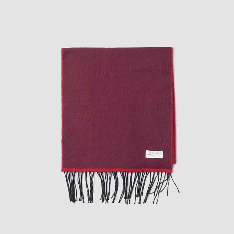 Acrylic Scarf - Burgundy / Red