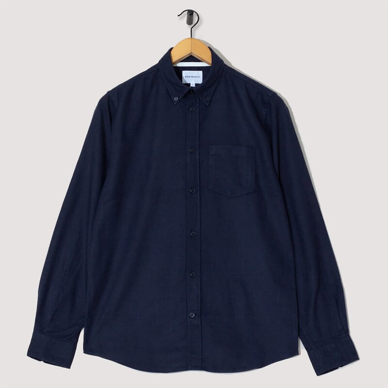 Anton Brushed Flannel - Dark Navy