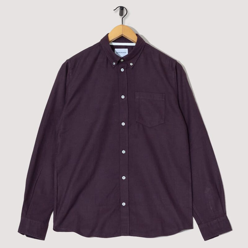 Anton Brushed Flannel - Eggplant Brown