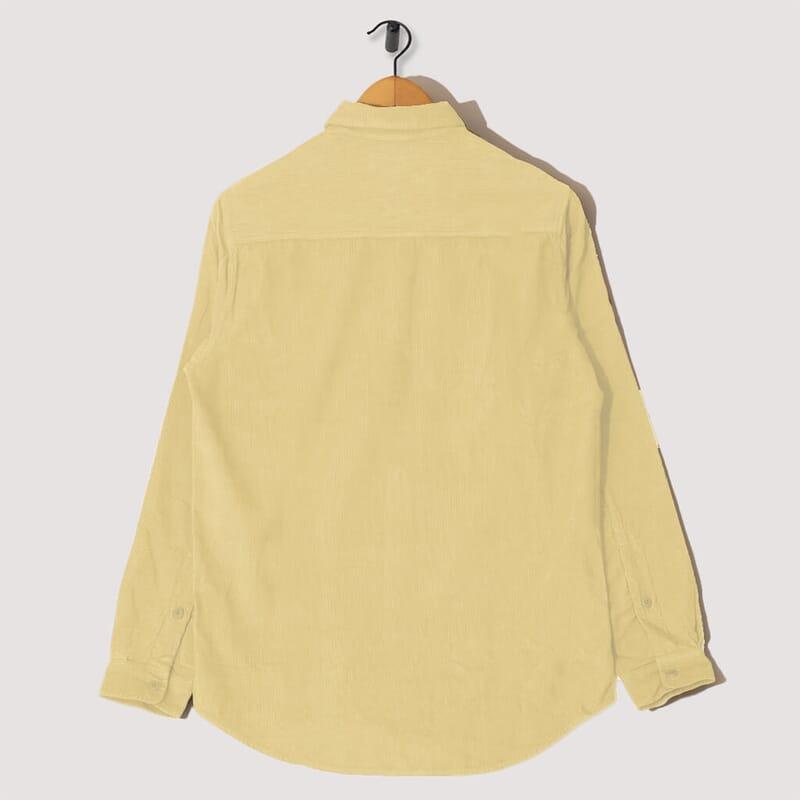 <Baby Cord Shirt - Light Gold