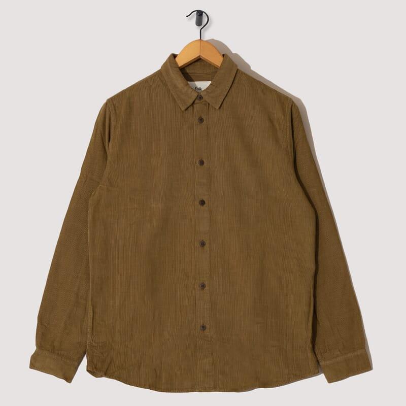 Baby Cord Shirt - Tabacco