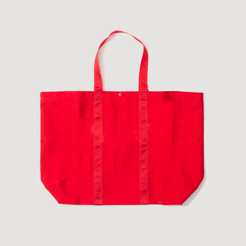<Shopping Tote - Red