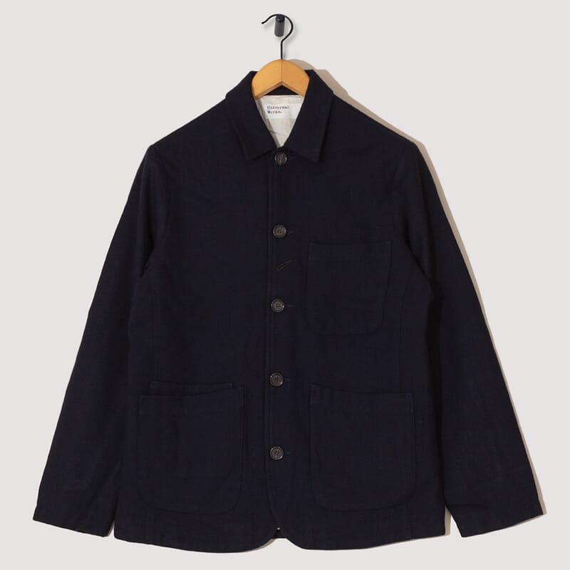 Bakers Jacket Wool Marl - Navy