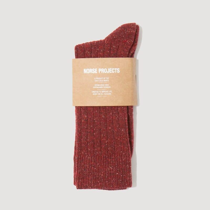 Bjarki Neps Socks - Carmine Red