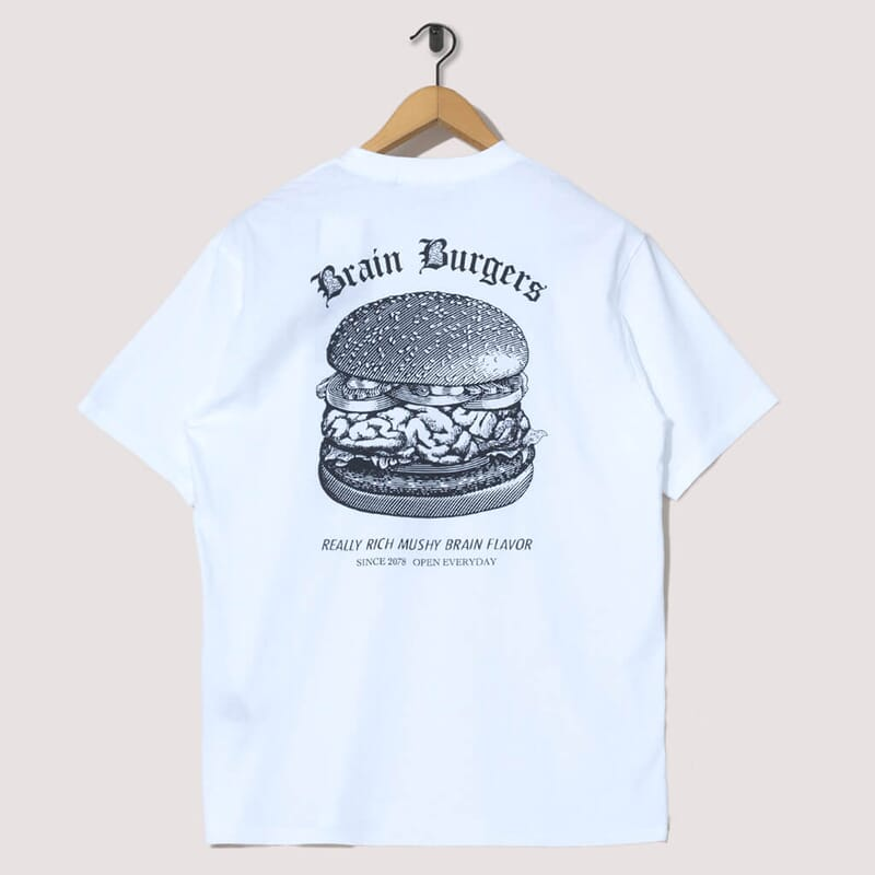 <Brain Burgers Tee - White