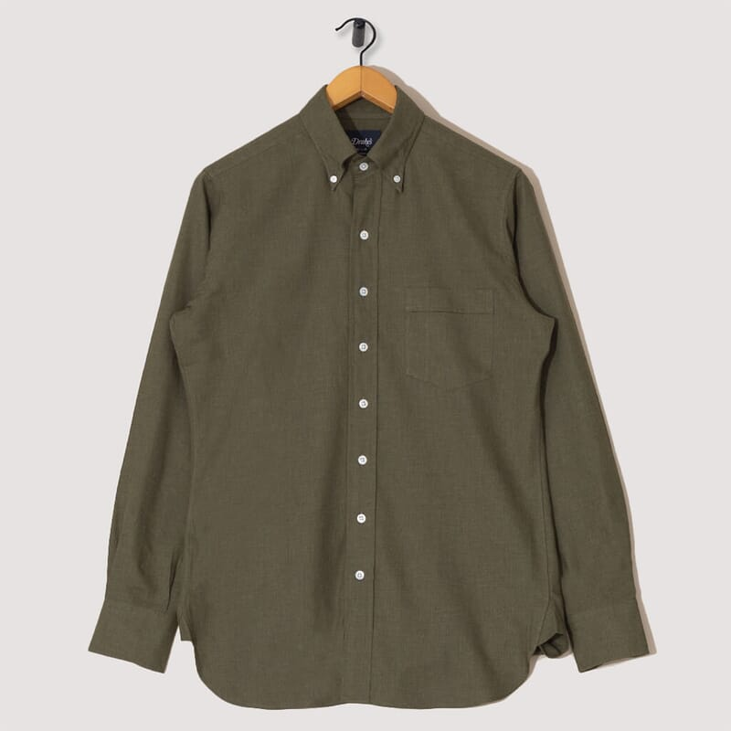 Button Down Flannel Shirt - Green