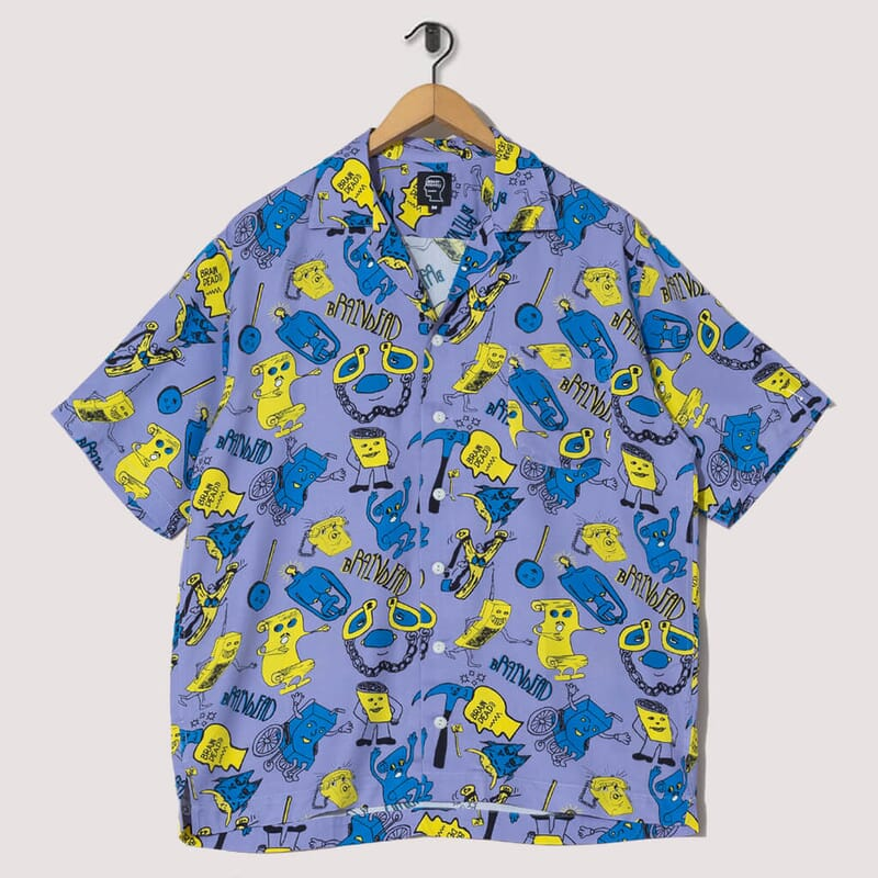 Caricatures S/S Hawaiian Shirt - Plum