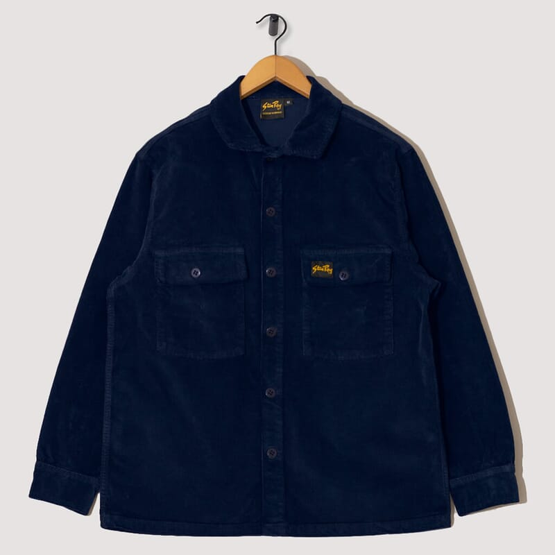Cord CPO Shirt - Navy