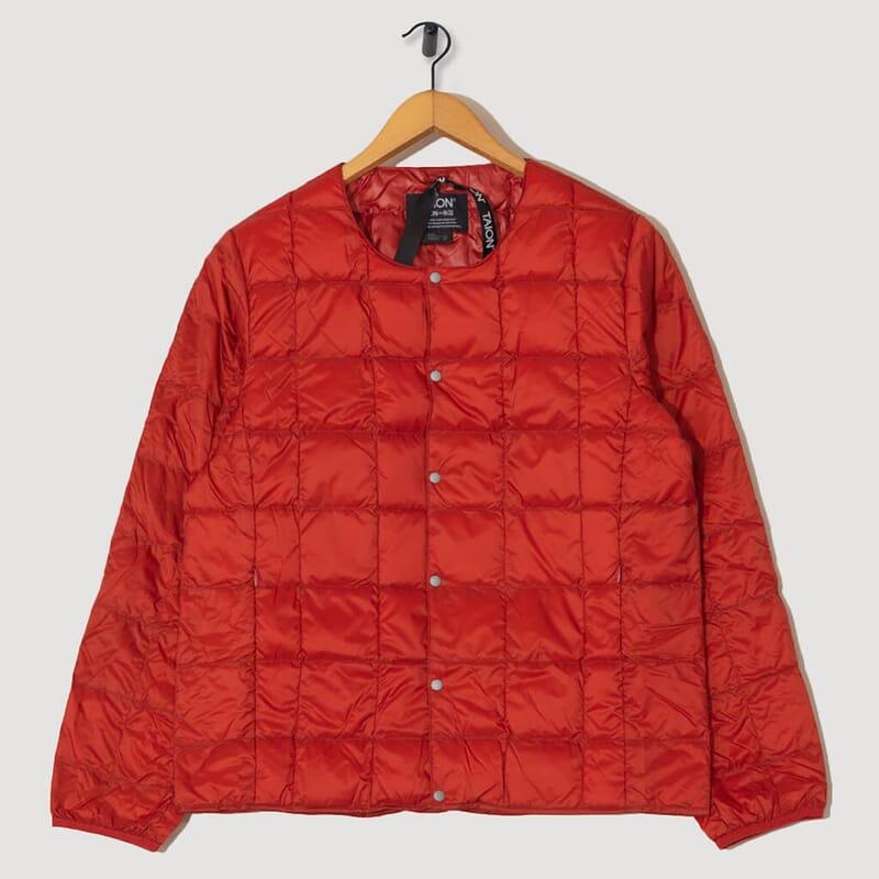 Crewneck Down Jacket - Brick Red