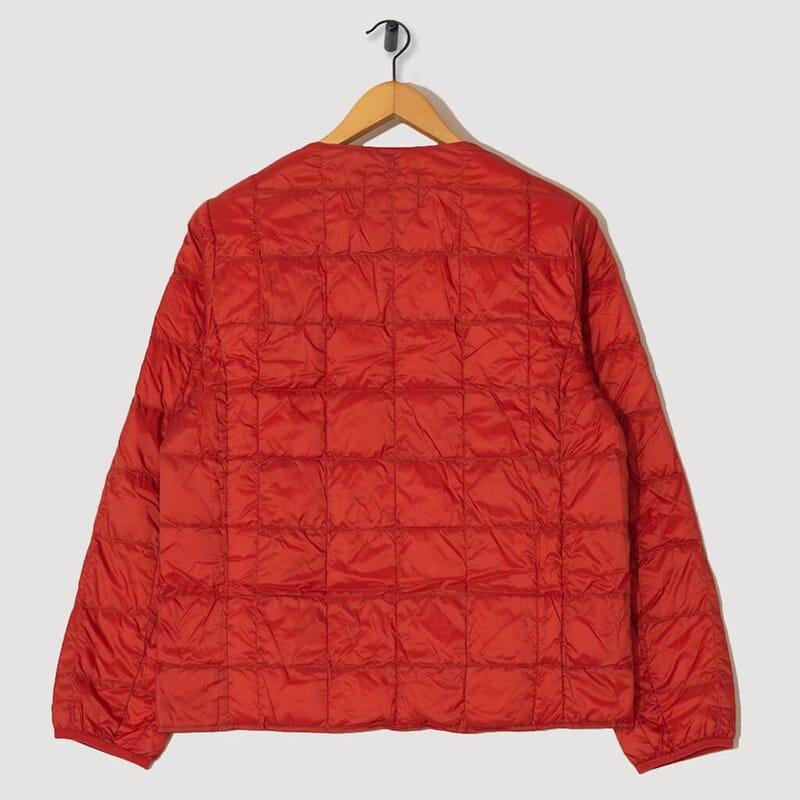 <Crewneck Down Jacket - Brick Red