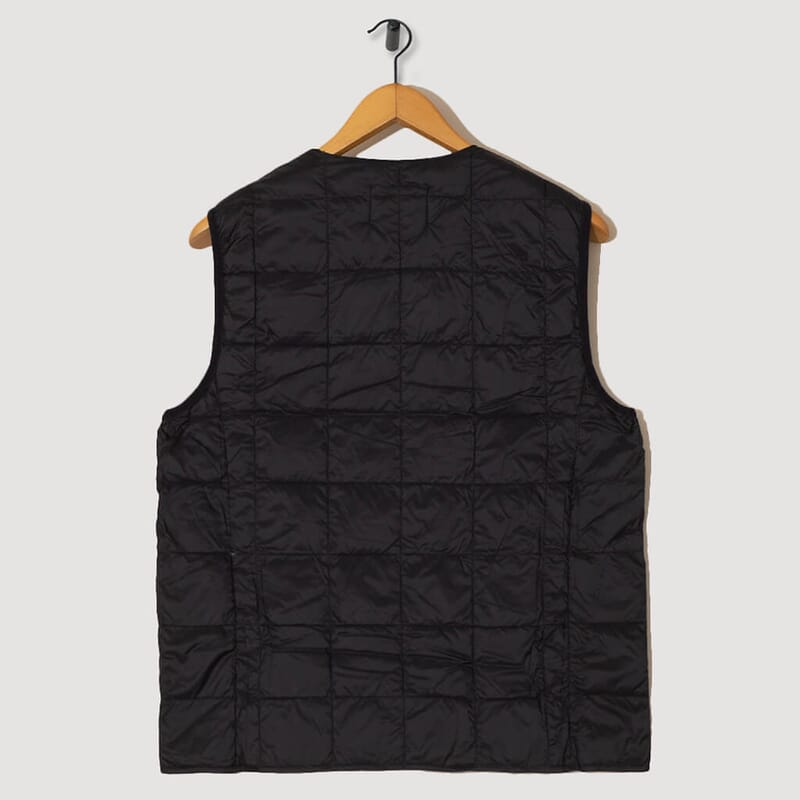 <Crewneck Down Vest - Black