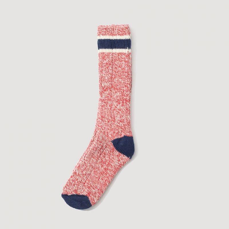 <Wool Ragg Socks - Red