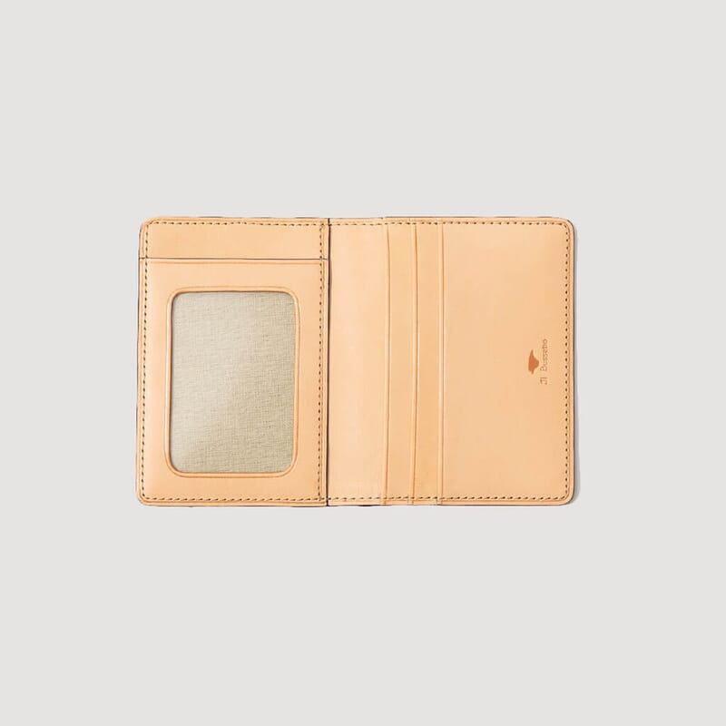 <Document Holder With ID Window - Biscuit