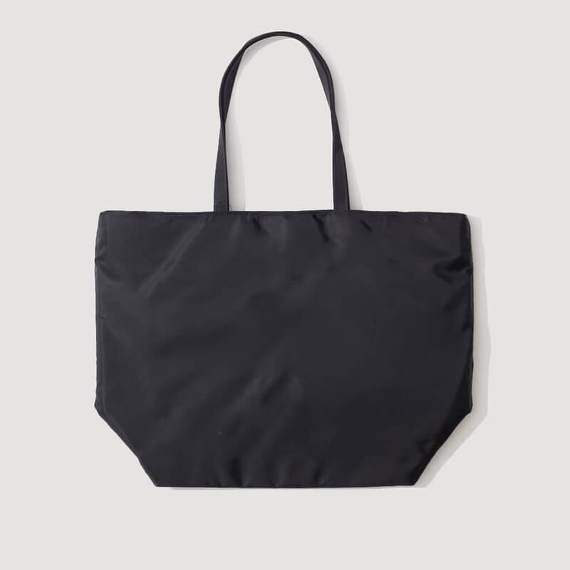 <Embroidered Tote - Black