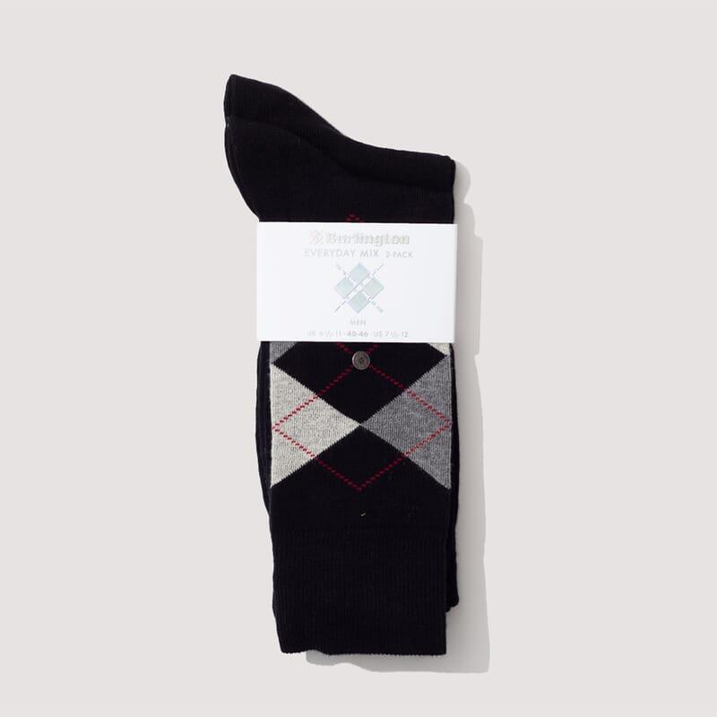 Everyday Mix Socks - Black/Grey Marl/Light Grey (809)