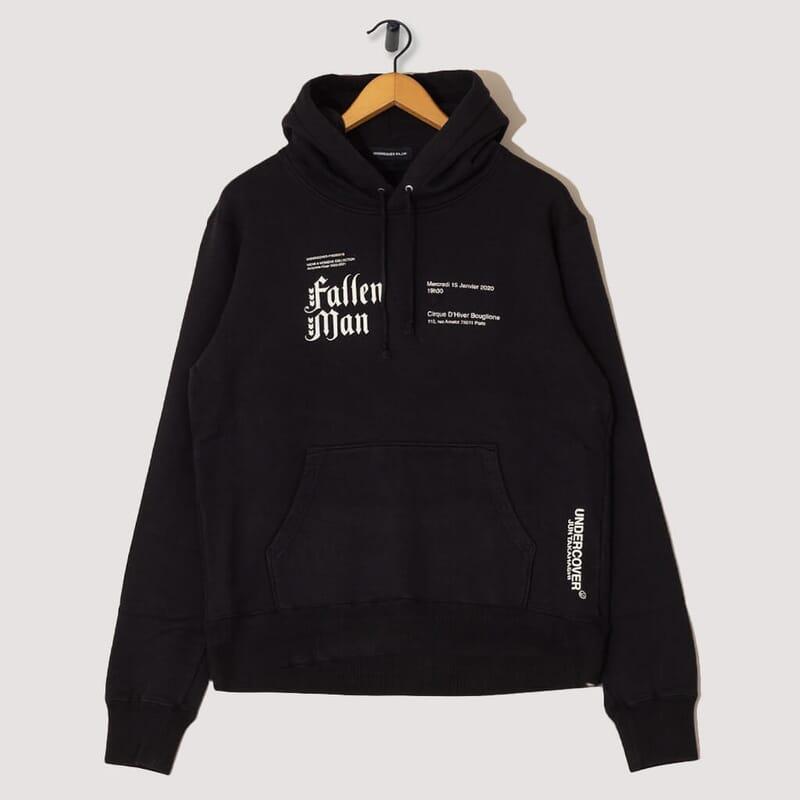 Fallen Man Hooded Sweatshirt - Black