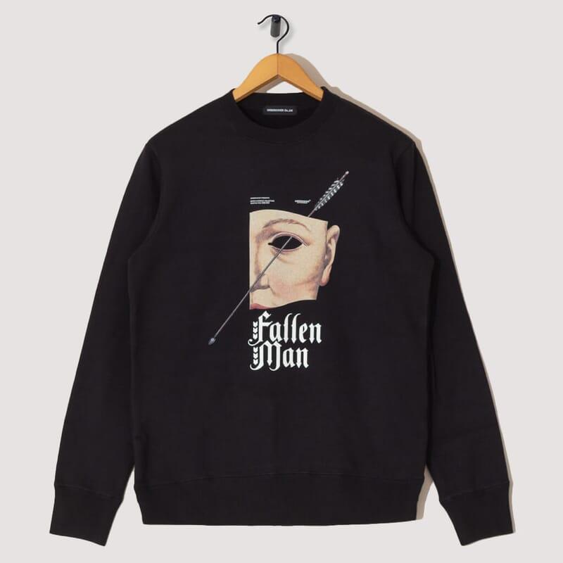 Fallen Man Pullover Sweatshirt - Black