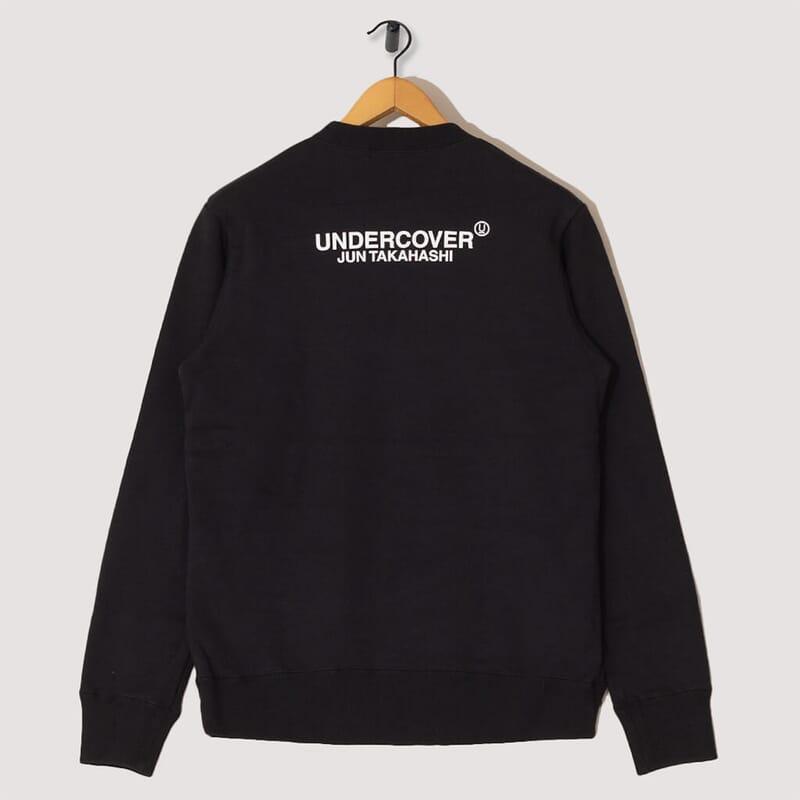 <Fallen Man Pullover Sweatshirt - Black