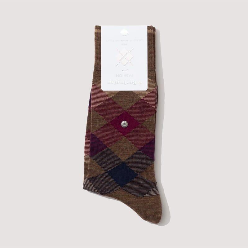Fashion Socks - Tobacco/Burgandy/Navy (823)