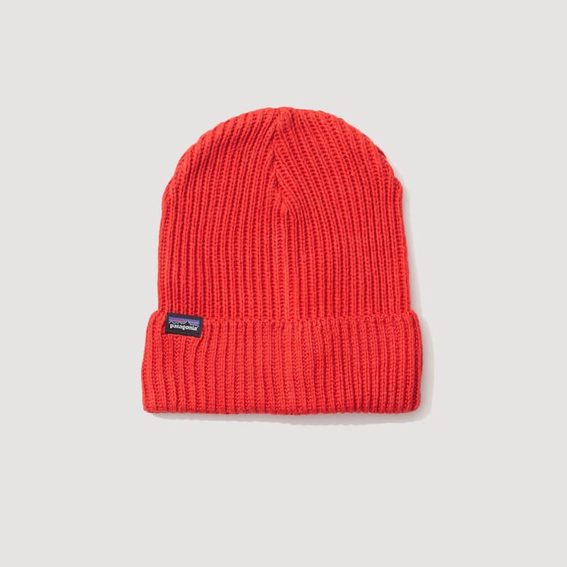 Fishermans Rolled Beanie - Hot Ember