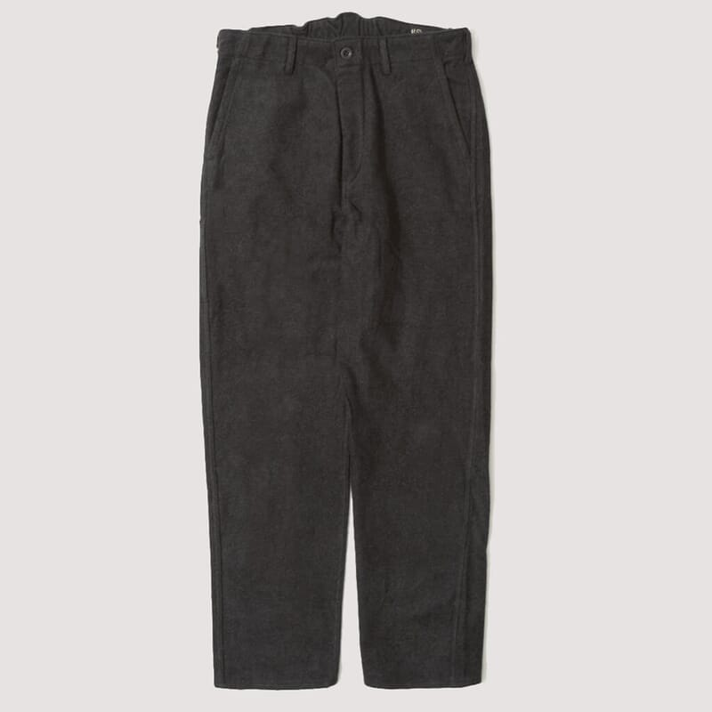 French Work Pant - Heavy Brushed Cotton Grey