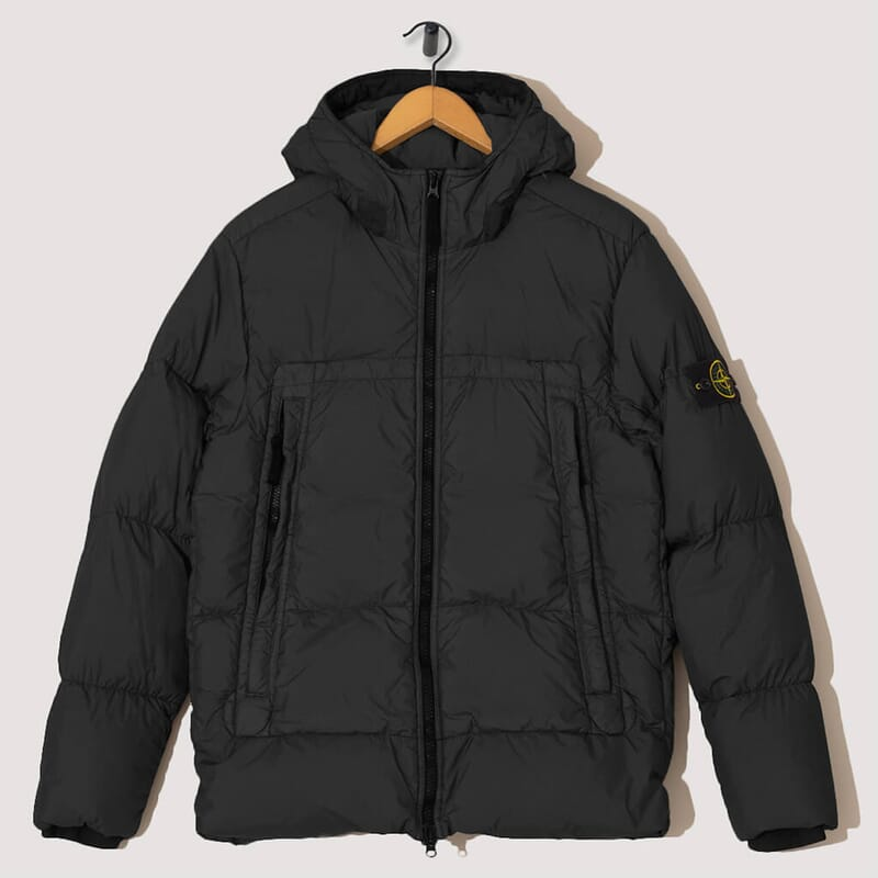 Garment Dyed Crinkle Reps Down Jacket - Black (40723)