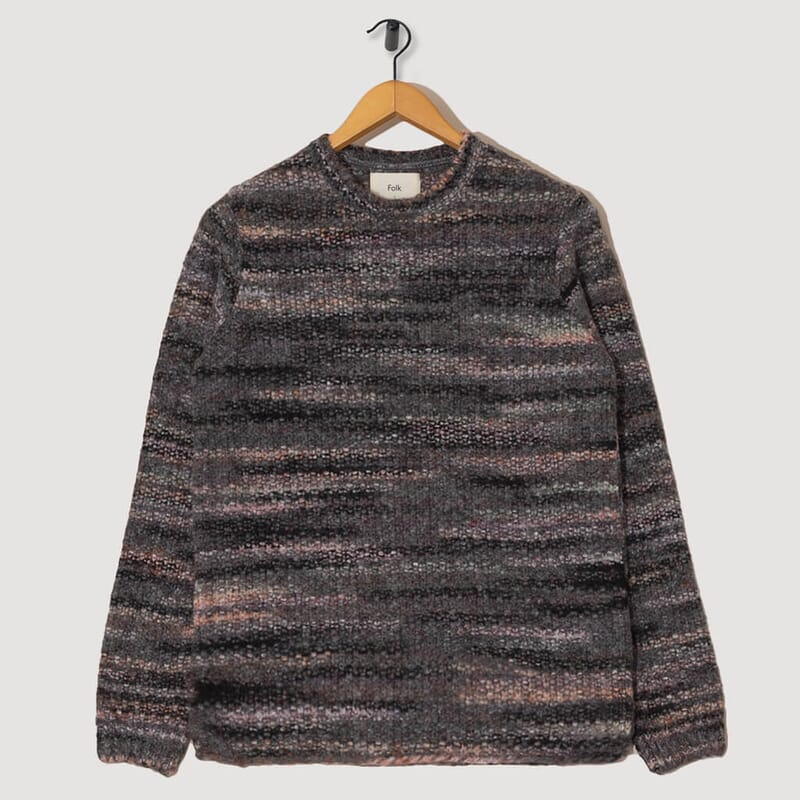 Highlight Crew Knit - Charcoal Marble