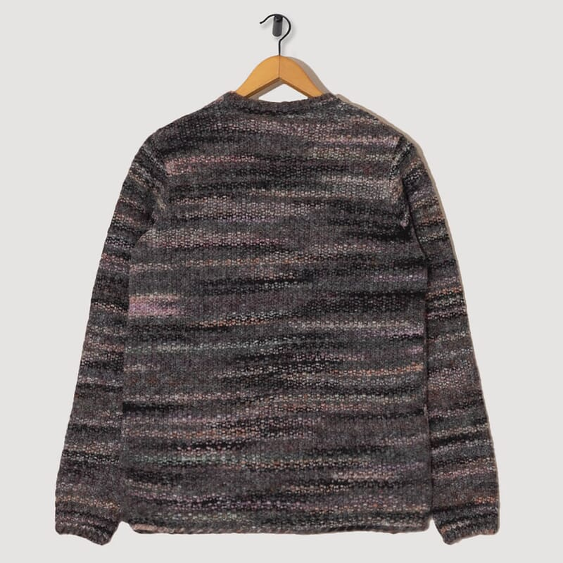 <Highlight Crew Knit - Charcoal Marble