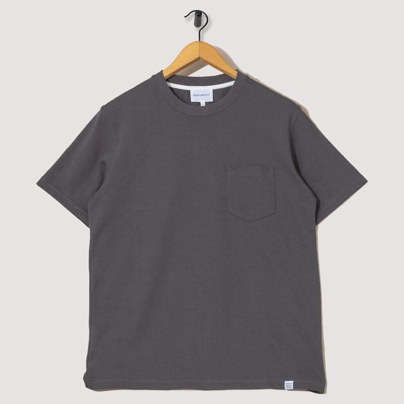 Johannes Pocket S/S Tee - Slate Grey