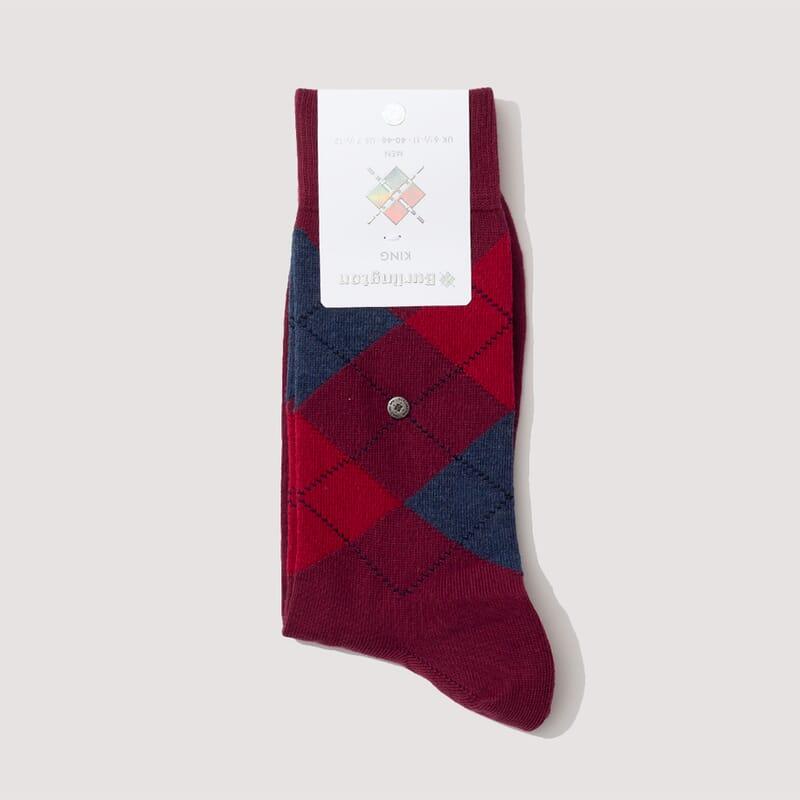 Kings Socks - Burgandy/Dark Red/Steel Blue (804)