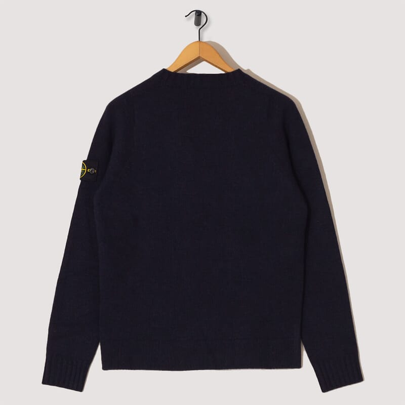 <Lambswool Crew Neck Knit  - Navy (505A3)