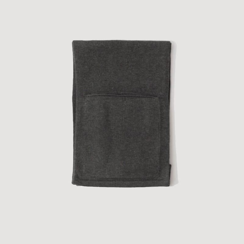 Lambswool Pocket Scarf - Khaki