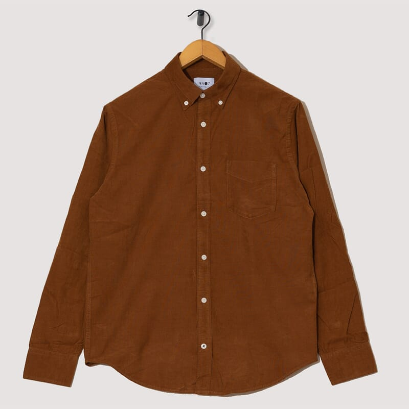Levon Cord Shirt - Brown
