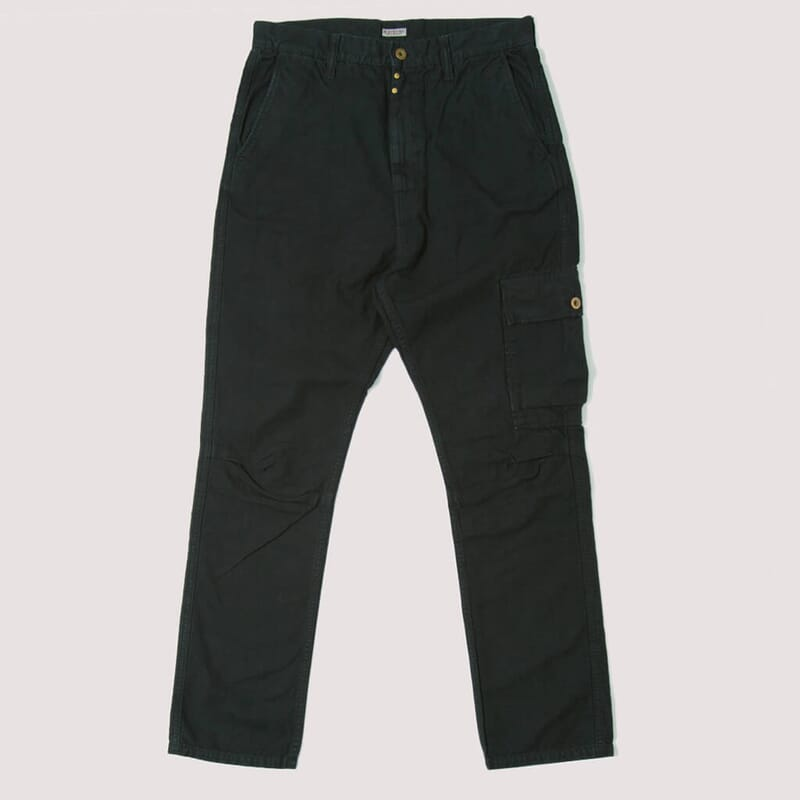 Light Canvas Ringoman Cargo Pants - Black