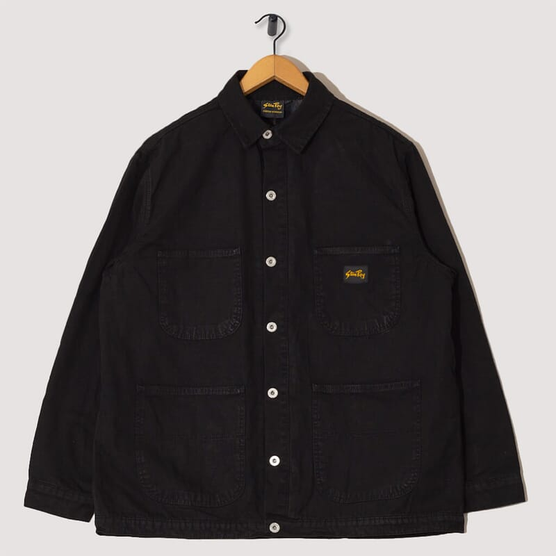 Lined Barn Coat - Washed Black Duck