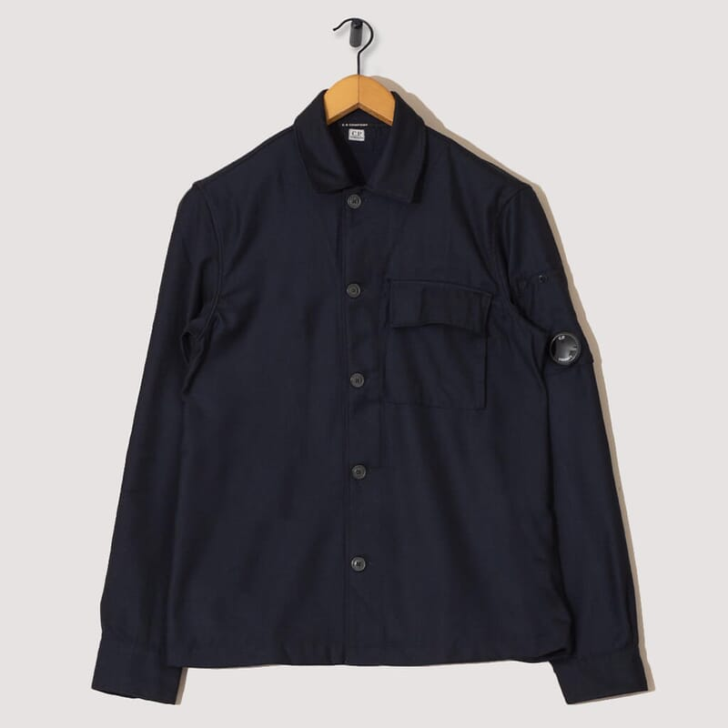 Long Sleeve Shirt Flanella - Navy
