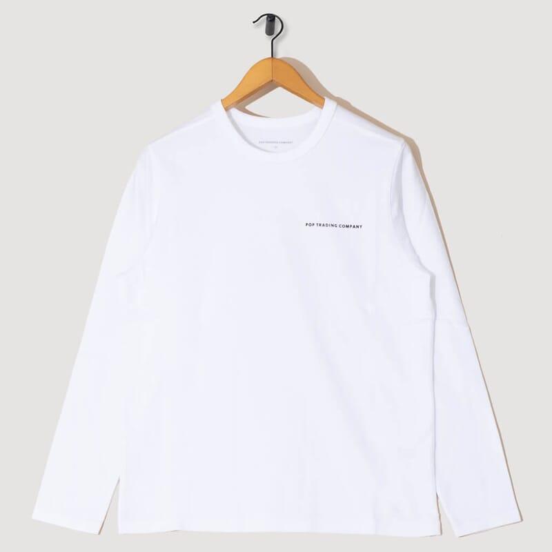 L/S Logo T-Shirt - White / Black