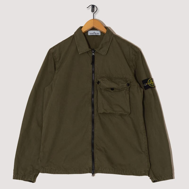 Military Zip Overshirt - Olive (V0158)