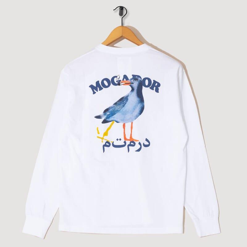 <Modagor L/S Tee - White
