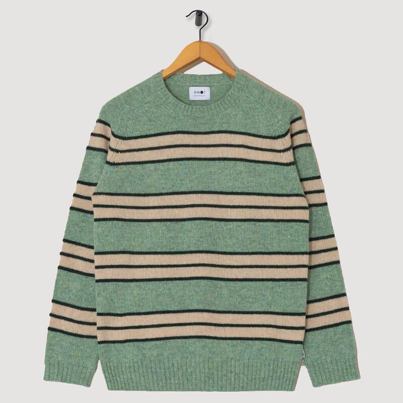 Nathan Stripe Knit - Mint Green