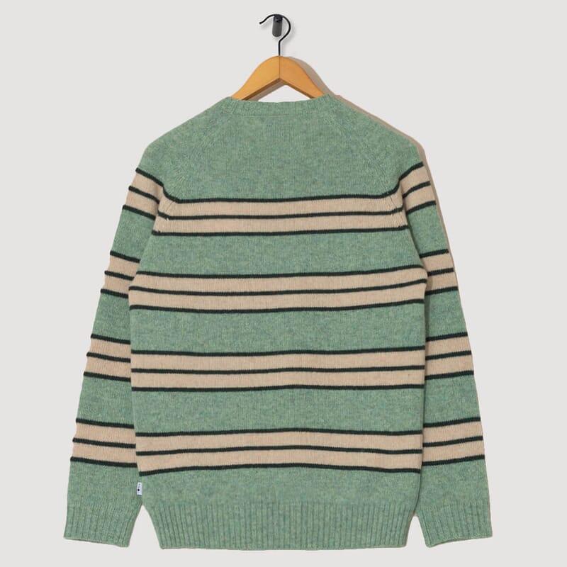 <Nathan Stripe Knit - Mint Green