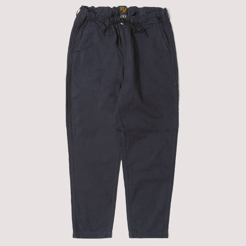 New Yorker Pant - Navy Herringbone (EXCLUSIVE)