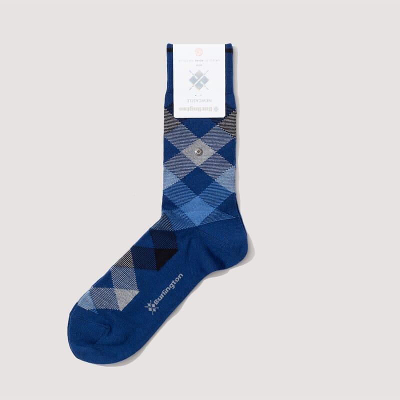 <Newcastle Socks - Blue/Sky Blue/Grey Marl (829)