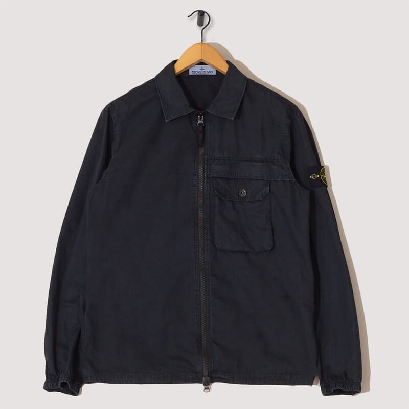 Overshirt Garment Dye - Navy (107WN)